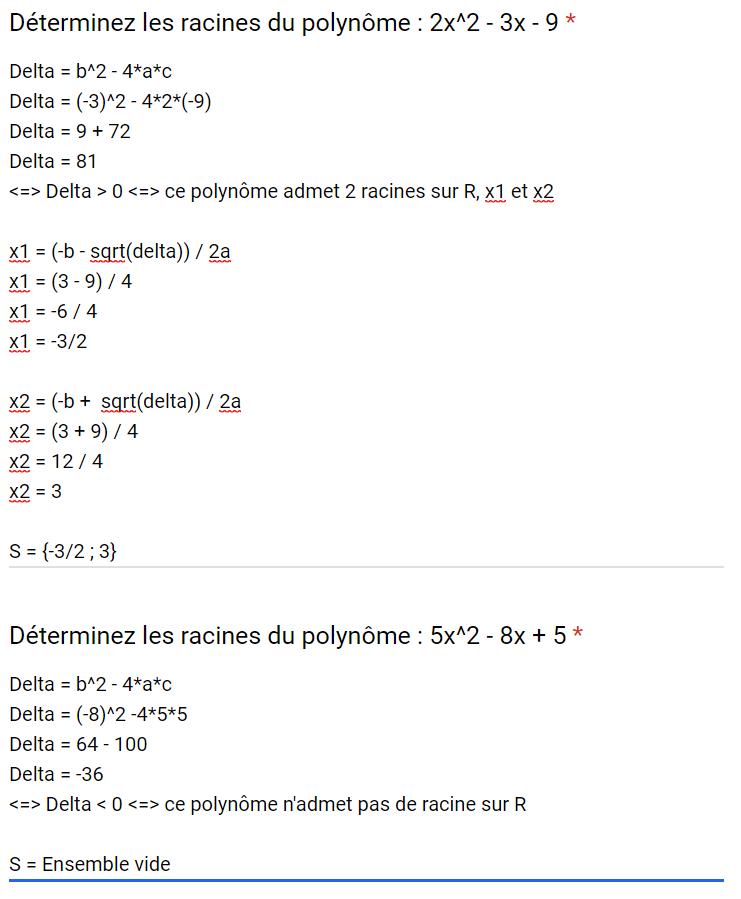 Mathématiques – DEVOIR FINAL 2nd degré – 07/08/2019 10:00 Corrig29
