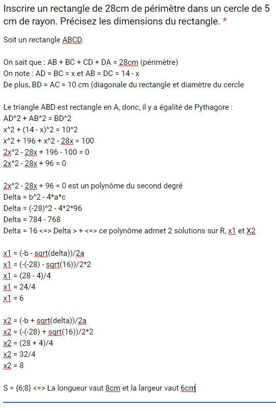 Mathématiques – DEVOIR FINAL 2nd degré – 07/08/2019 10:00 Corrig32