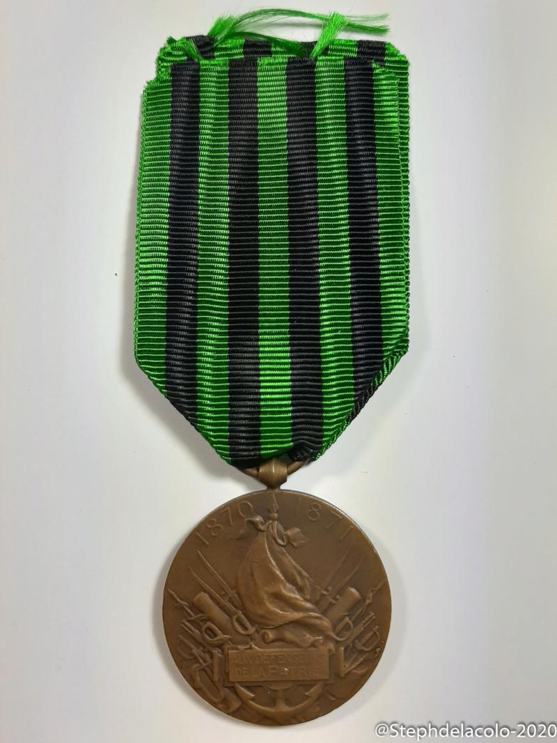 Mes médailles du Second Empire à la 3ème République. 20201043