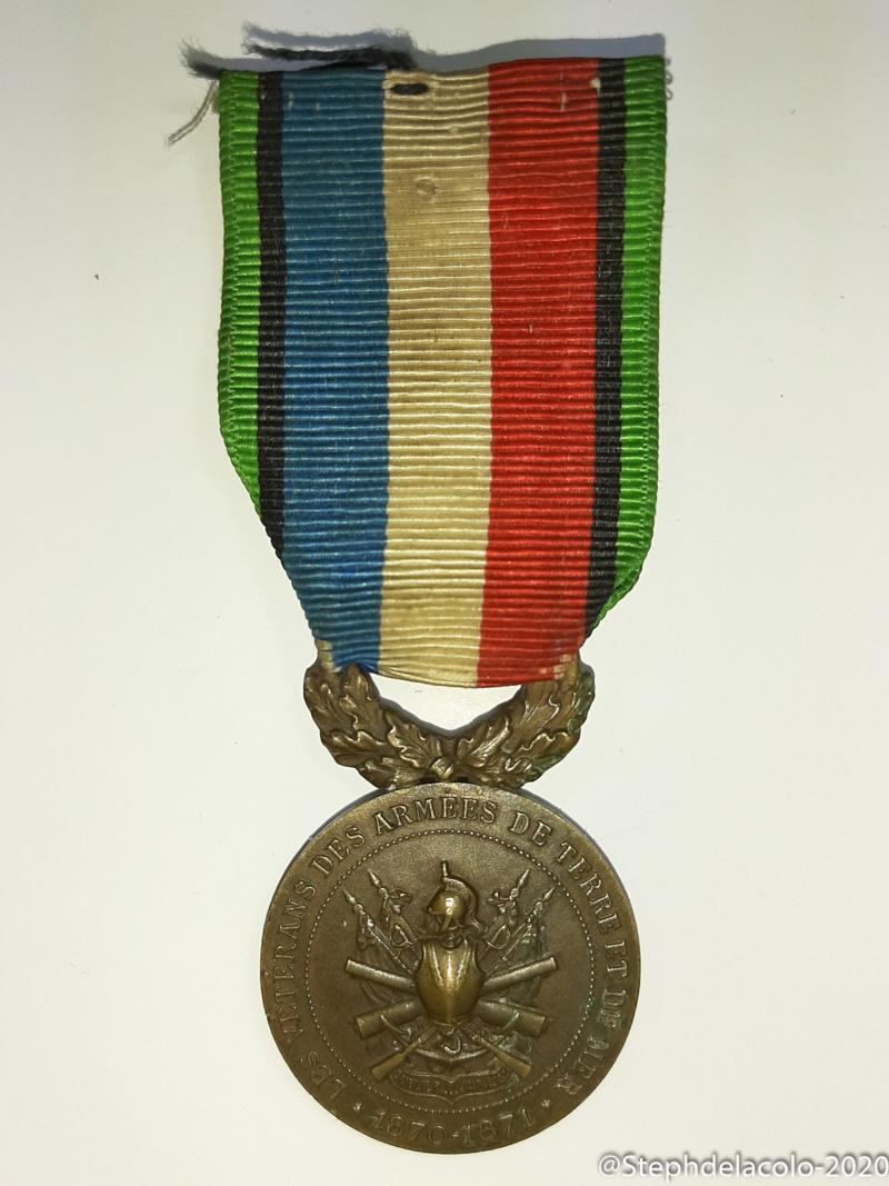 Mes médailles du Second Empire à la 3ème République. 20201045