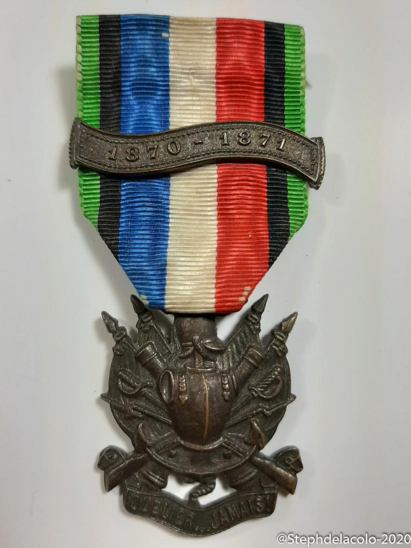 Mes médailles du Second Empire à la 3ème République. 20201047