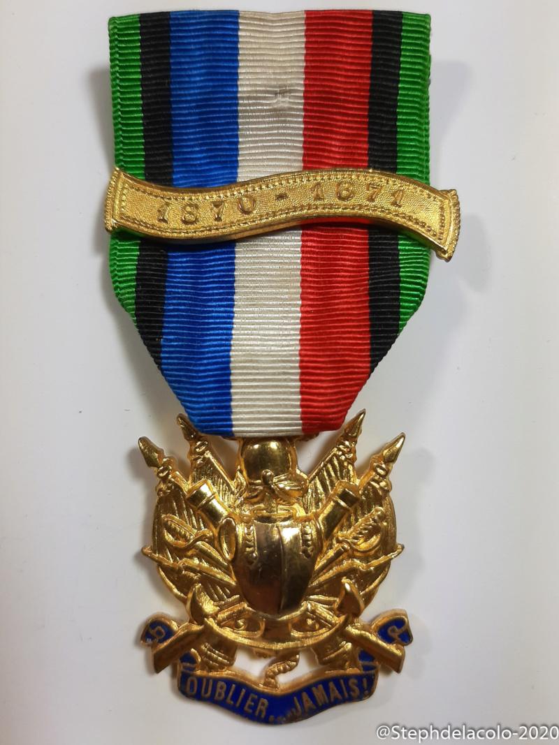 Mes médailles du Second Empire à la 3ème République. 20201050