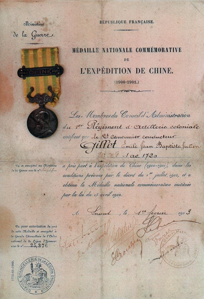 Mes médailles du Second Empire à la 3ème République. Numzor11