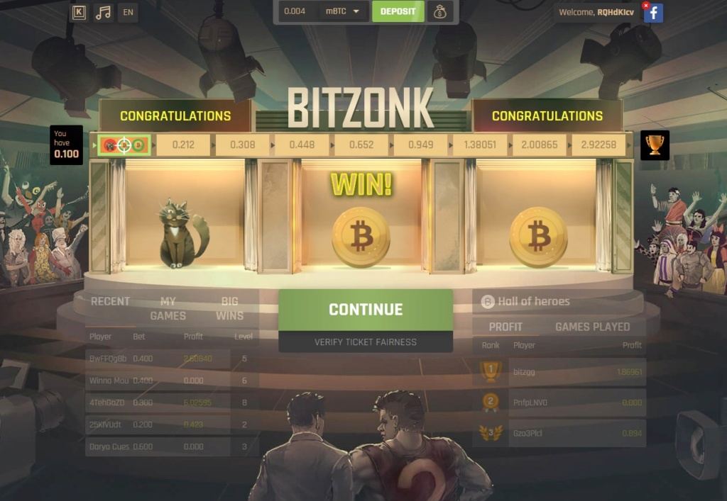 Bitcoin game - Bitzonk Bitzon10