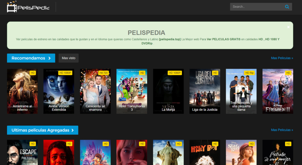 Alternativas a Pelispedia para ver pelis online Pelisp10