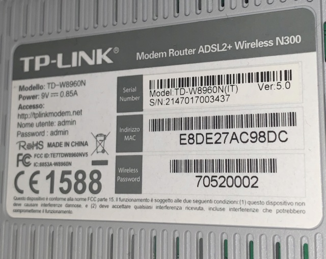 Connessione internet e voip con il 7530 e vodafone adsl2+ 20 mb. Df032110