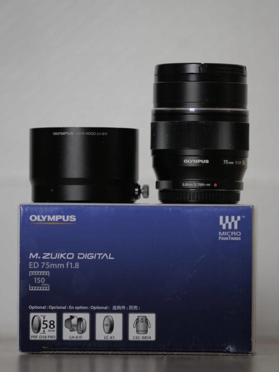 [VENDS] Objectif Olympus M.ZUIKO Digital ED 75 mm F1.8 _1299612