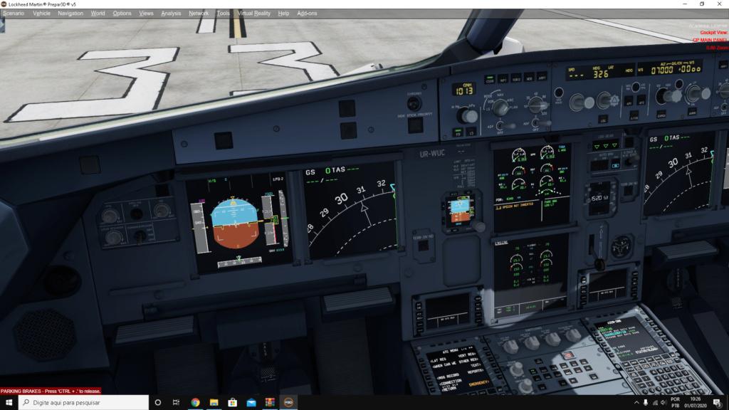 Painel de rota do a320 aerosoft em 1/4 Captur10