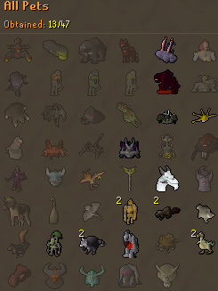 [13 pets] Stinger's post-max grind [Currently:Agility (20m+ exp)] Pets1610
