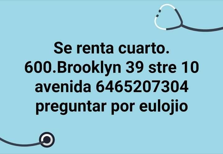 Se renta cuarto en Brooklyn 39st 10ave Fb_img10