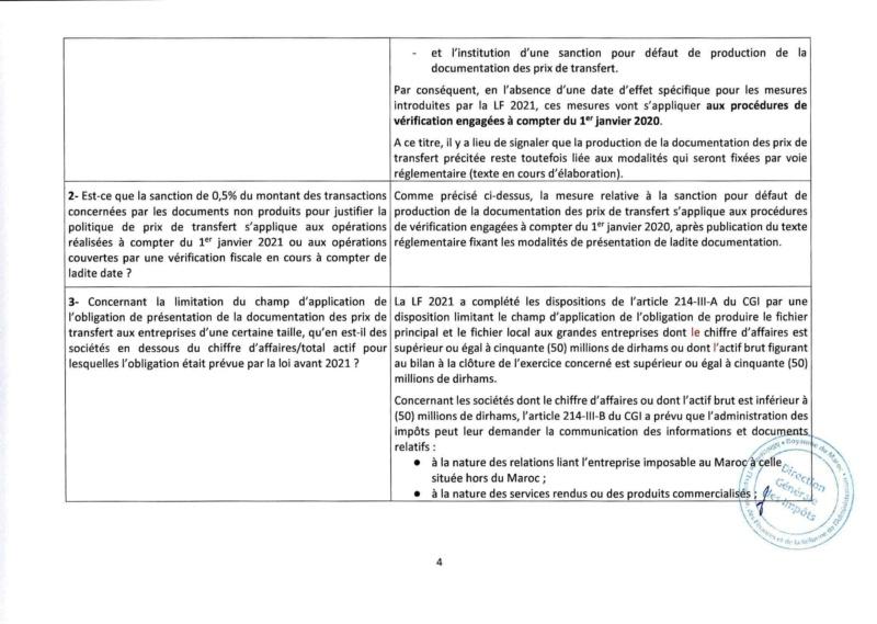 Réponses aux questions soulevées par les membres de la CGEM et la commission fiscalité et douane Rzopon15