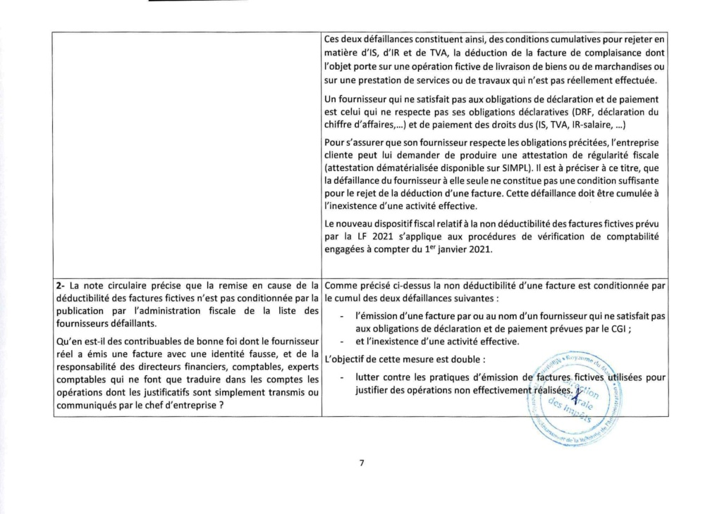 Réponses aux questions soulevées par les membres de la CGEM et la commission fiscalité et douane Rzopon16