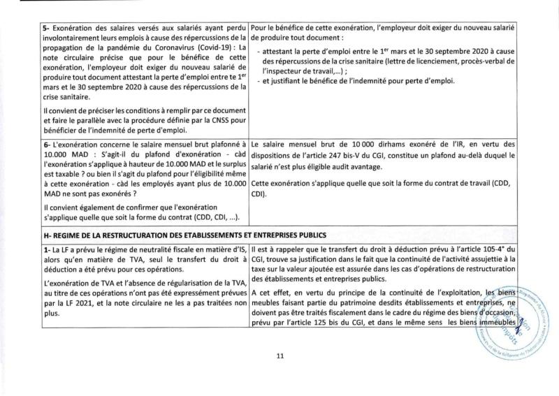 Réponses aux questions soulevées par les membres de la CGEM et la commission fiscalité et douane Rzopon20