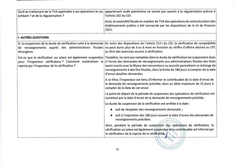 Réponses aux questions soulevées par les membres de la CGEM et la commission fiscalité et douane Rzopon22