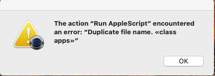 Problème lors de l'utilisation de MACOSXInstaller Screen10