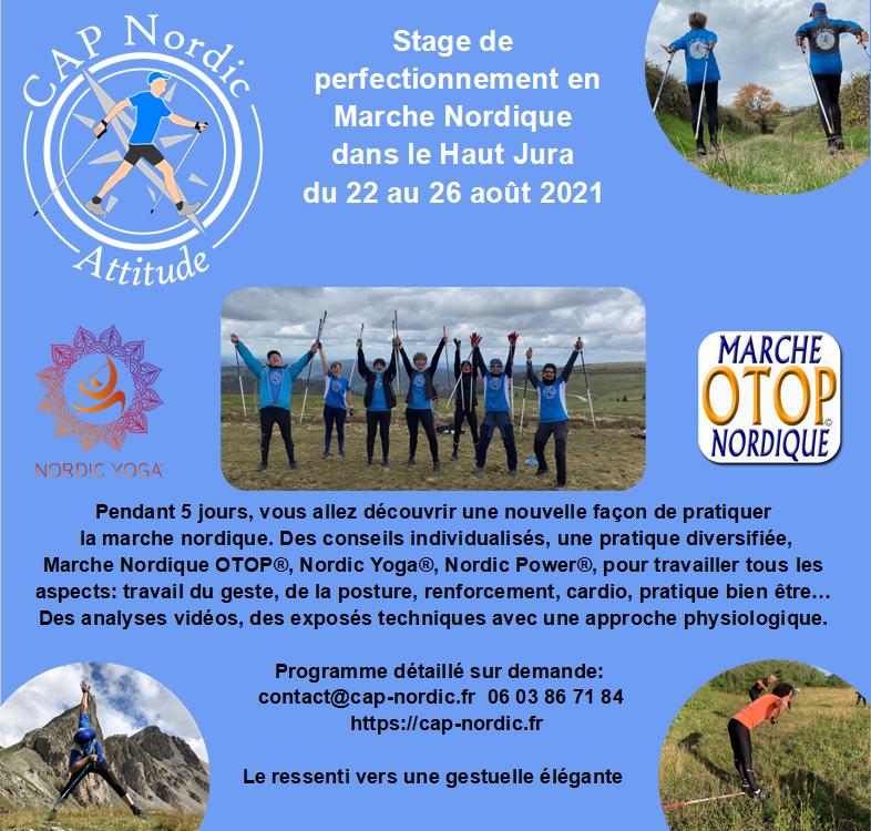 Stage de Perfectionnement: Marche Nordique OTOP® Nordic Yoga® Haut Jura Flyer10