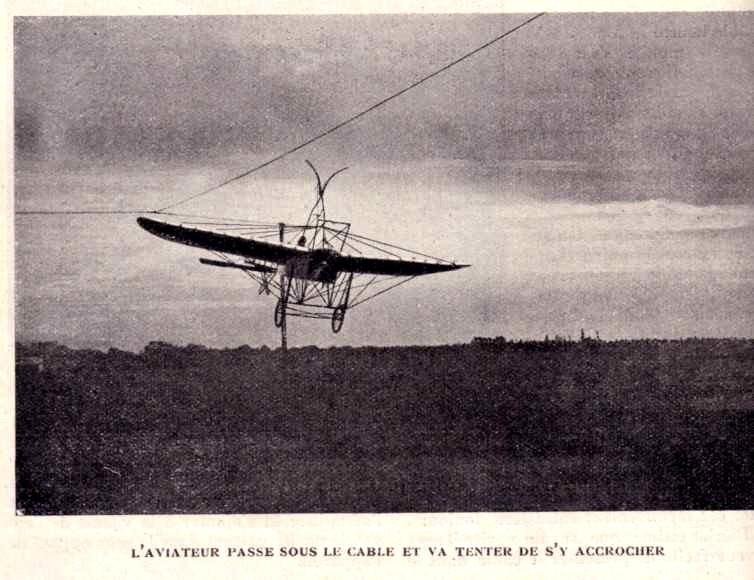 Le Blériot qui décollait et atterrissait d'un câble Cable_11