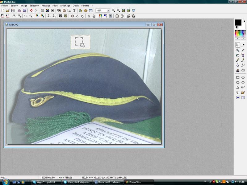 Recadrer une photographie ou un scan. R_110