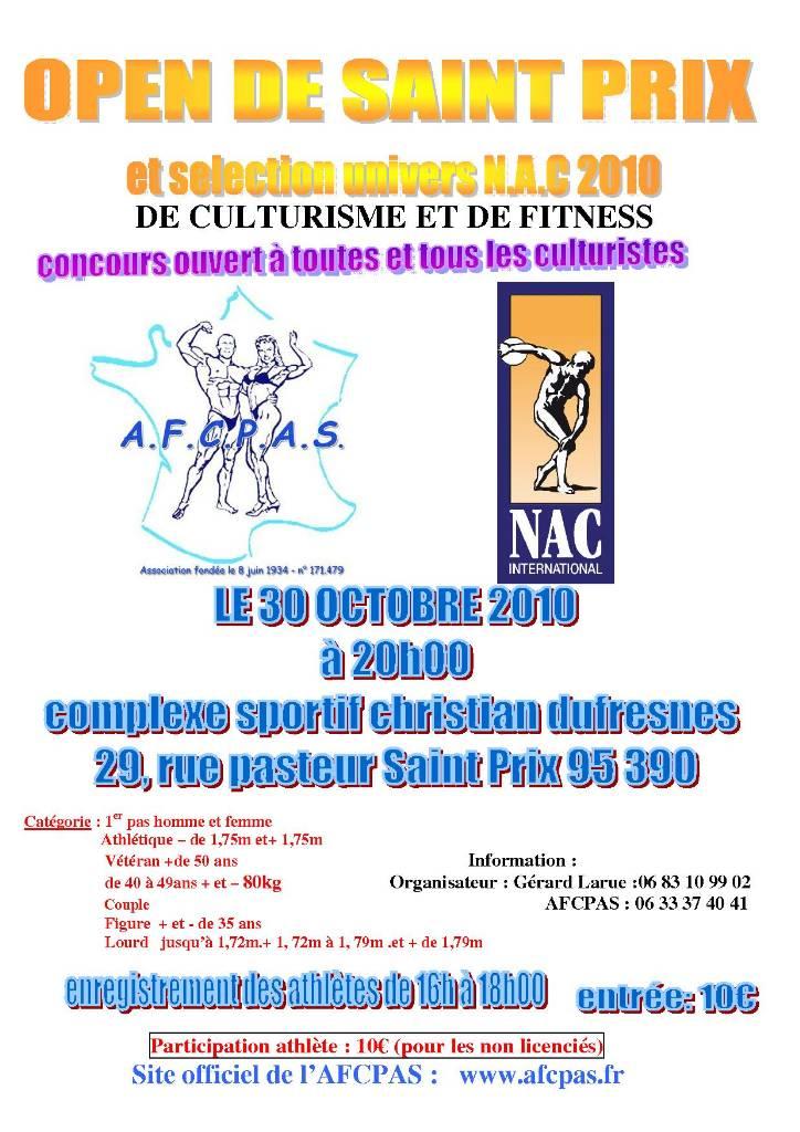 OPEN DE S T PRIX ET SELECTION UNIVERS NAC 2010 LE 30 OCTOBRE St20pr10