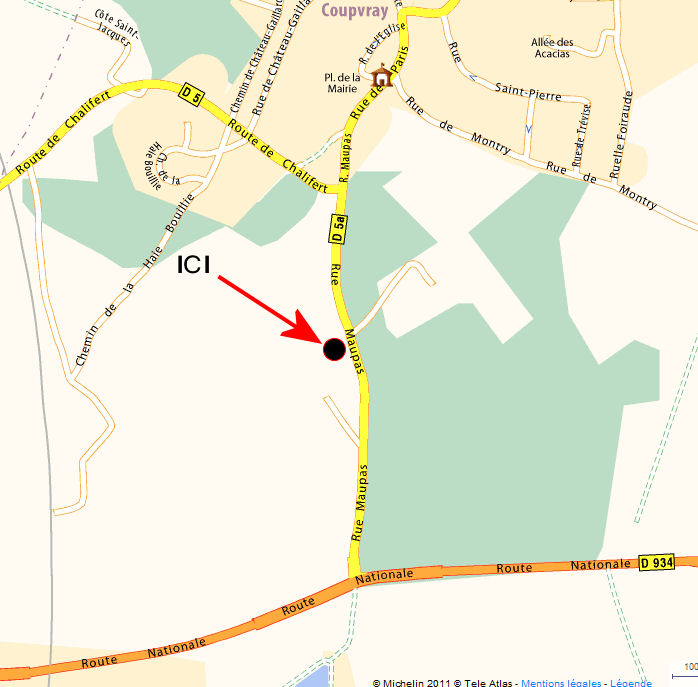 Localisation géographique du club Rêves & Légendes Situat10