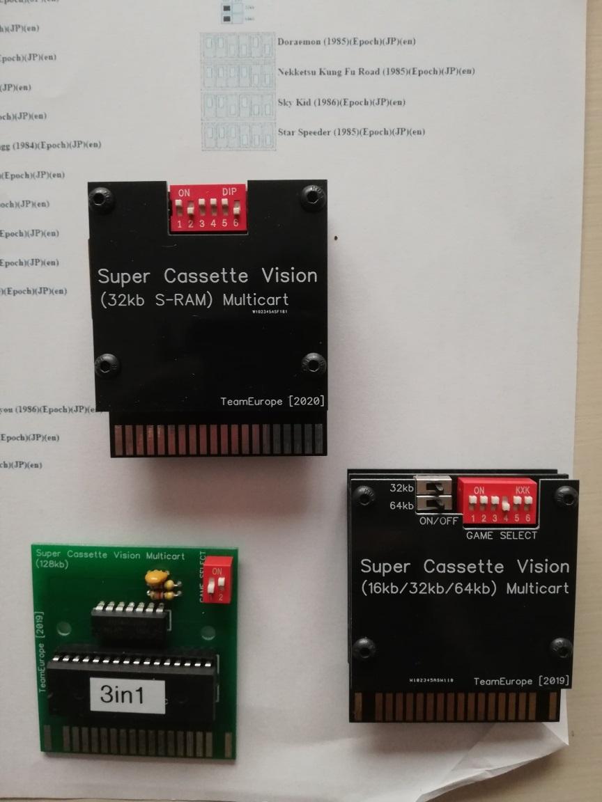 [VENDU] console Super Cassette Vision , 2 jeux et 3 multicartes Multi_10