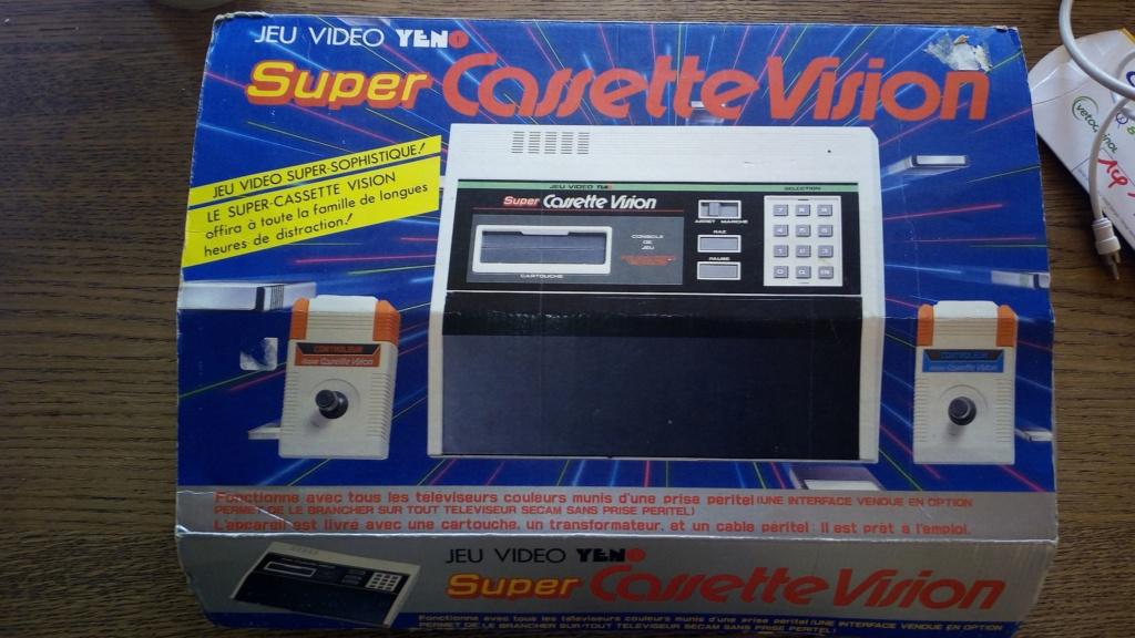 VENDU] SUPER CASSETTE VISION beau lot console + jeux Scv410