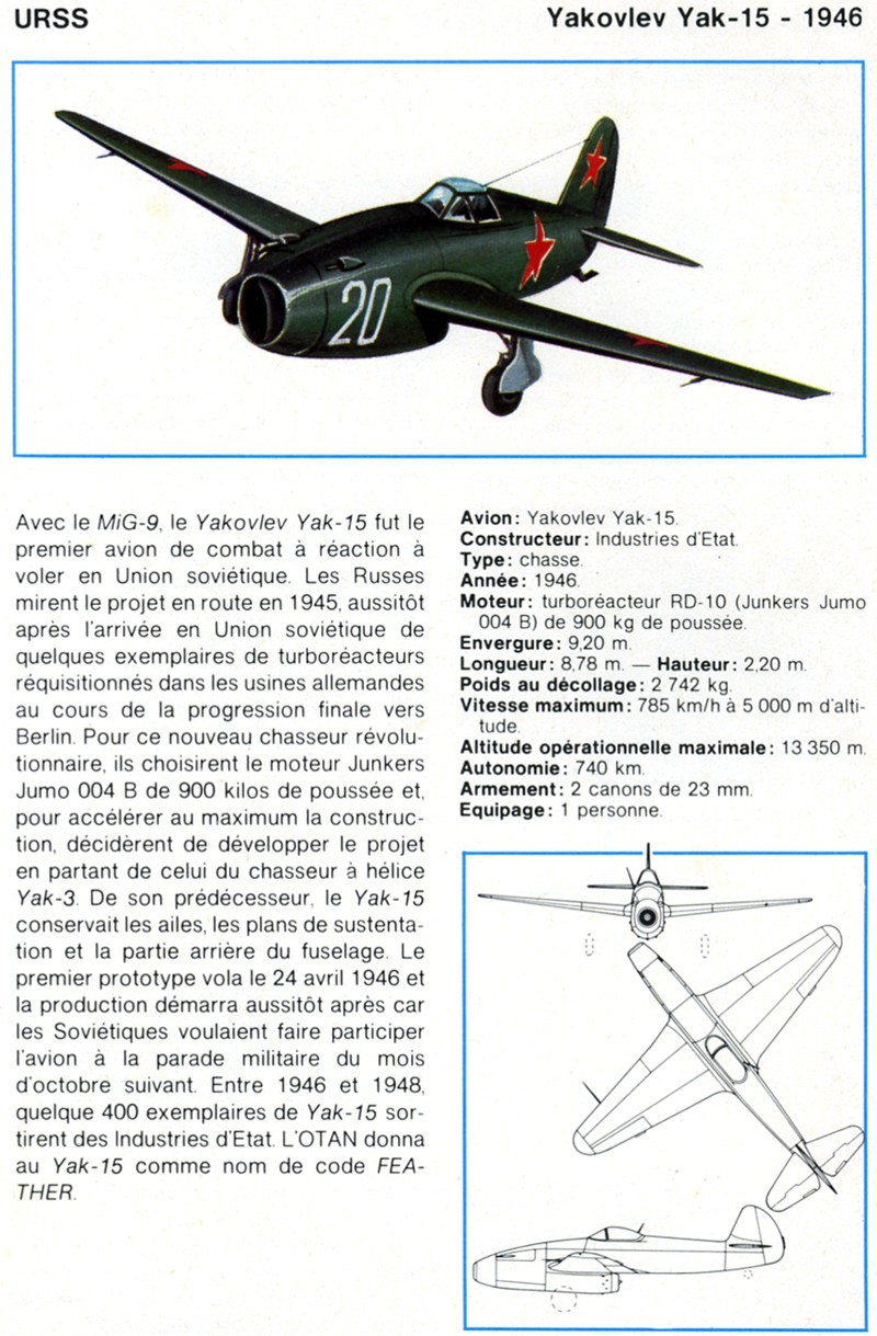 "Yakovlev Yak-15  ""Feather"" [1:72 - Eastern Express]  Yak-1510"