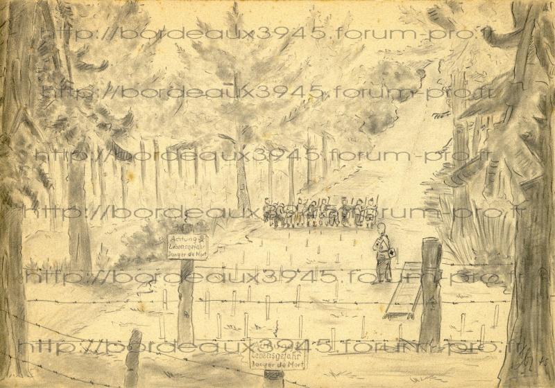 Henri Salmide / Heinz Stahlschmidt  / bunker Rue Raze Août 1944 Dessin10