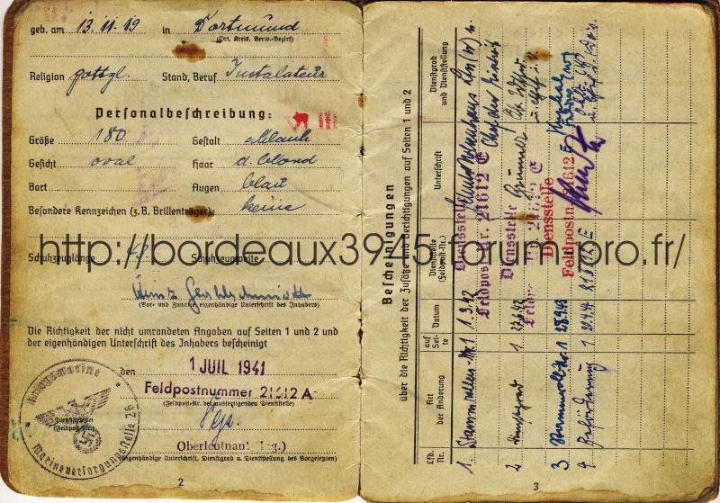 Henri Salmide / Heinz Stahlschmidt  / bunker Rue Raze Août 1944 Img_0510