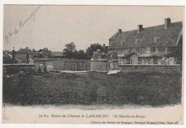 Ruines du chateau de La Marche à Saint Martin en Bresse Marche11