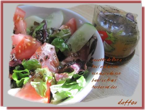 Vinaigrette Huile d'olive et basilic Vinaig10