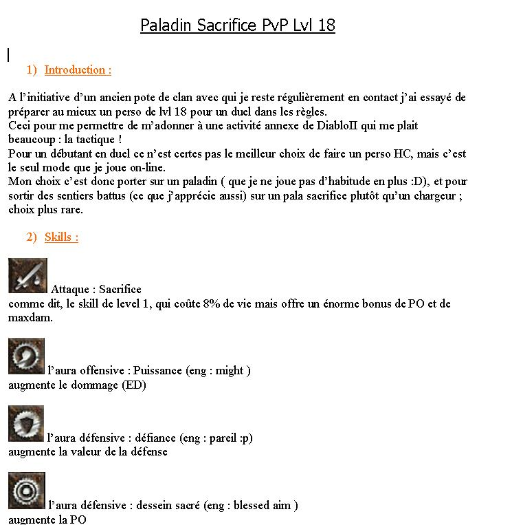 BUILD PvP Lvl 18 : Paladin Sacrifice Guidep10