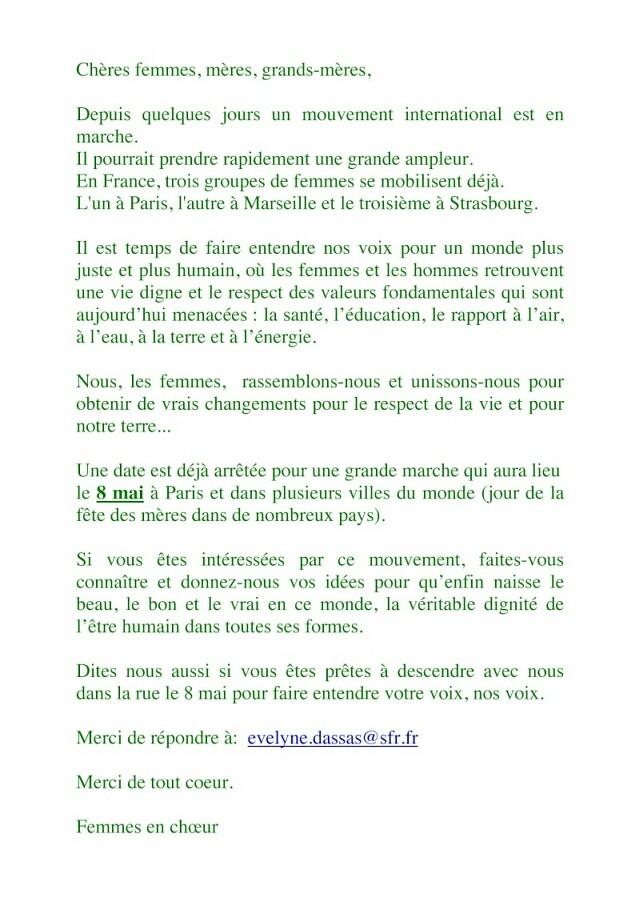 UN MONDE DIGNE DE L'ETRE HUMAIN Manife11