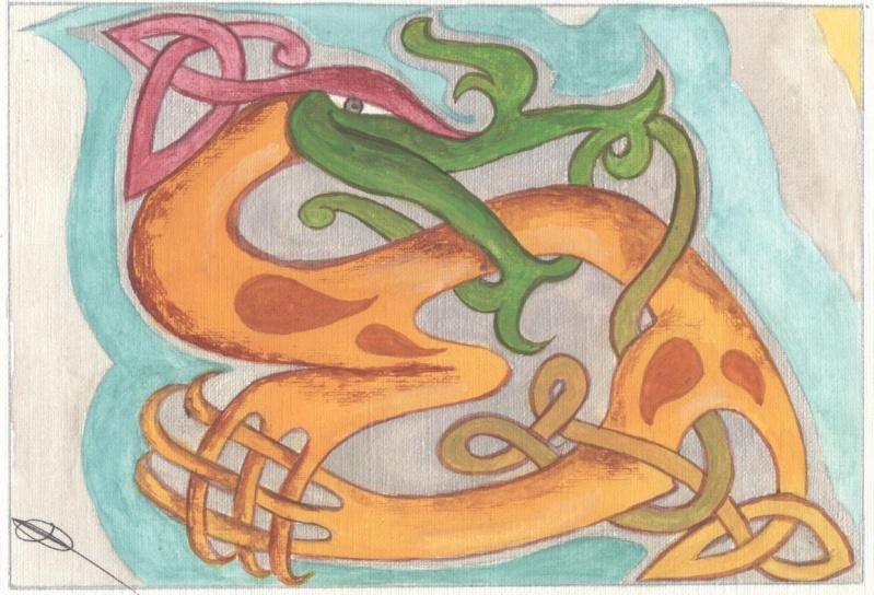 J'aime les entrelacs et autres dessins celtiques - Page 4 Animal10