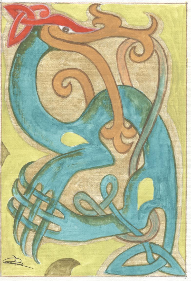 J'aime les entrelacs et autres dessins celtiques - Page 4 Animal11