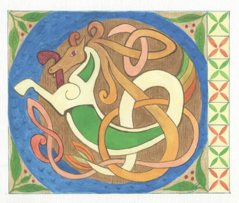 J'aime les entrelacs et autres dessins celtiques - Page 4 Cheval10