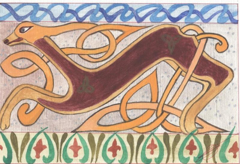 J'aime les entrelacs et autres dessins celtiques Chien_10