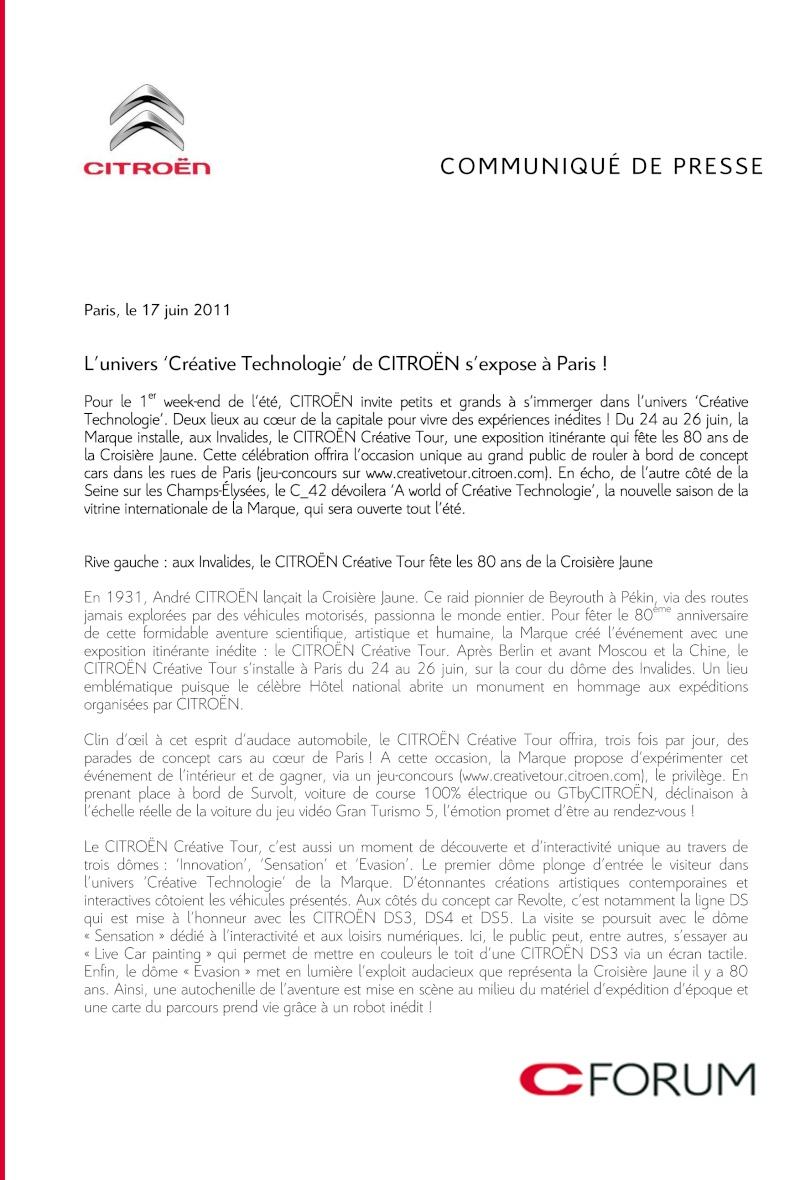 [EXPOSITION] Citroën Creative Tour Cpcrat11