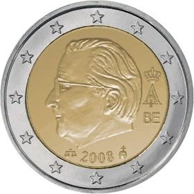 2008, changement dans les pièces Euro Belges Belgiu10