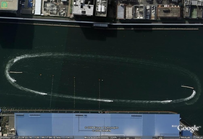 Les courses de bateaux dans Google Earth Course10
