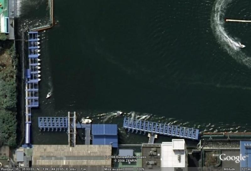 Les courses de bateaux dans Google Earth Course11