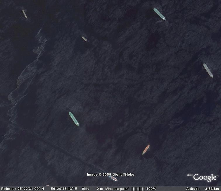 Les courses de bateaux dans Google Earth Eau10