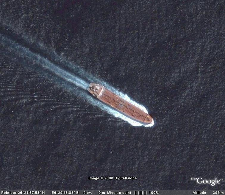 Les courses de bateaux dans Google Earth Petrol10