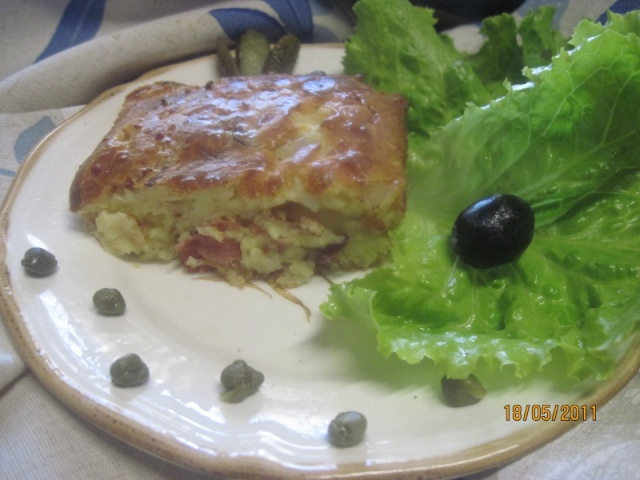 Clafoutis salé au gruyère et jambon cru Clafou10