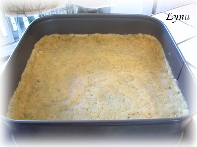 Gâteau au fromage, pommes et sauce caramel Gataeu11