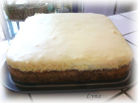 Gâteau au fromage, pommes et sauce caramel Gateau15