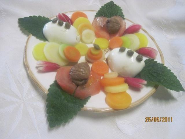 assiettes garnies de méli milo de carottes quartuore Mousti10