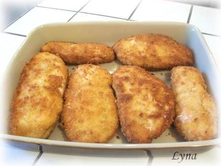Escalopes de poulet panées avec chapelure panko Poitri14