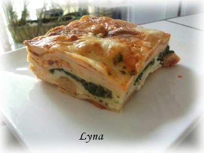 Grosses lasagnes avec pâtes fraîches (photos par étape) Pouf_b10