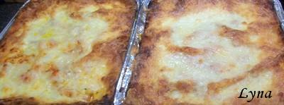 Grosses lasagnes avec pâtes fraîches (photos par étape) Poufbl11